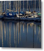 Sailboat Reflections Metal Print