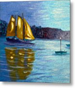 Sailboat-  Sailing- Come Sail Away Metal Print