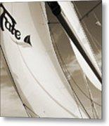 Sailboat Sails And Spinnaker Fate Beneteau 49 Charelston Sc Metal Print