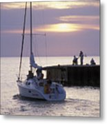 Sailboat Setting Out From Bayfield Metal Print