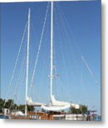 Sailboat Summer Vacation Scene Metal Print