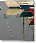 Sailboats And Reflections Metal Print