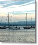 Sailboats Docked Metal Print