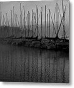 Sailboats In Harbor 2 Metal Print