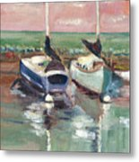 Sailboats In Lahaina Metal Print