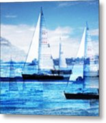 Sailboats Metal Print by MW Robbins