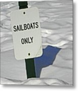 Sailboats Only Metal Print by Elizabeth Hoskinson