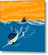 Sailfish Fishing Boat Metal Print