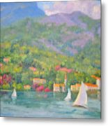 Sailing - Lake Como Metal Print