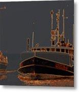 Sailing And Fishing 2 Metal Print