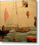 Sailing and other boats Metal Print