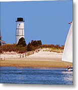 Sailing Around Sandy Neck Lighthouse Metal Print