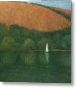 Sailing At Trelissick Metal Print