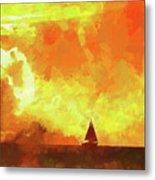 Sailing Away From The Sun Metal Print