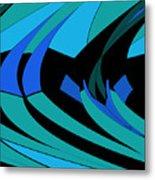 Sailing Blue - Left Metal Print