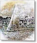 Sailing Boat, Nautical,yachts, Seascape Metal Print