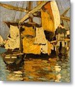 Sailing Boat On The Canale Della Giudecca Metal Print