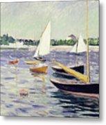 Sailing Boats At Argenteuil Metal Print