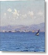 Sailing Boats In  Landscape Metal Print