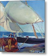 Sailing Boats Metal Print by Joaquin Sorolla y Bastida