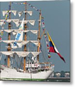 Sailing By The Battery Metal Print