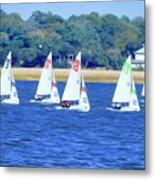 Sailing Charleston Harbor Metal Print