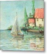 Sailing Day After Monet Metal Print