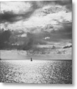 Sailing Dreams Black And White Metal Print