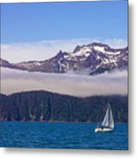 Sailing In Alaska Metal Print