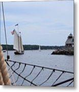 Sailing In Metal Print