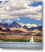 Sailing In Havasu Metal Print