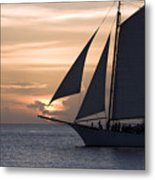 Sailing In Key West At Sunset Metal Print