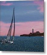 Sailing In Portland Maine Metal Print