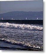 Sailing In Santa Monica Metal Print