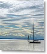 Sailing In Seattle Metal Print