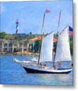 Sailing In St. Augustine Metal Print