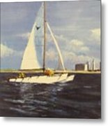 Sailing In The Netherlands Metal Print