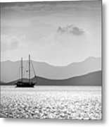 Sailing In The Sunset Metal Print