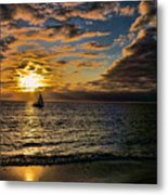 Sailing Into The Sun Metal Print