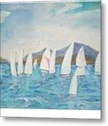 Sailing Lake Washington Metal Print