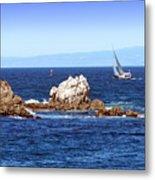 Sailing Monterey Bay Metal Print