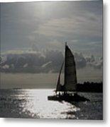 Sailing North Metal Print