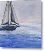 Sailing Off Cape May Point Metal Print