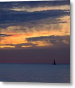Sailing On A Paint Brush Metal Print