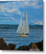 Sailing On A Summer Day Metal Print