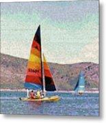 Sailing On A Utah Lake Metal Print