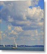 Sailing On Chiemsee Lake Metal Print