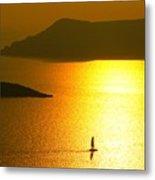 Sailing On Gold 1 Metal Print
