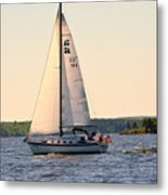 Sailing On Lake Murray Sc Metal Print