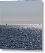 Sailing On Lake Pontchartrain Metal Print